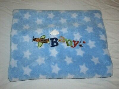 Condition Nice Condition With Minor Normal Wash Wear Material 100 Polyester Color Blue Baby Blanket Blue Blanket Soft Plush