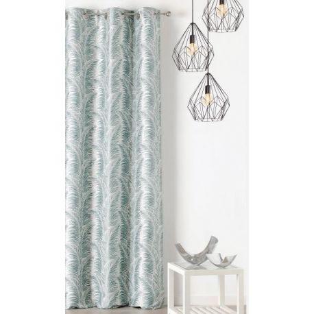 rideaux bleu vert rideau vert d eau