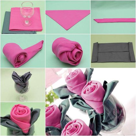 How to DIY Rosette Napkin Fold   iCreativeIdeas.com