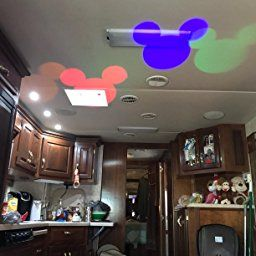 Disney Mickey Ears Swirling Multicolor LED Christmas Holiday Spotlight Projector
