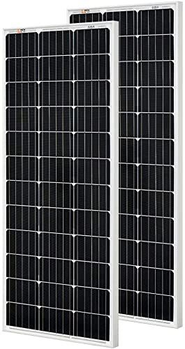 New Rich Solar 2 Pieces 100 Watt 12 Volt Monocrystalline Solar Panel High Efficiency Solar Module Charge Battery Rv Trailer Camper Marine Off Grid Online Loo In 2020 Monocrystalline Solar Panels Solar Panels Solar Module