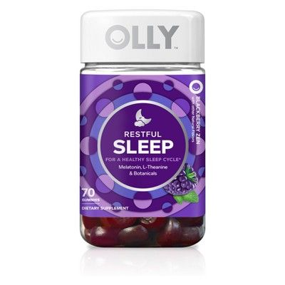 Olly Sleep Gummies Blackberry Zen 70ct Gummies Melatonin