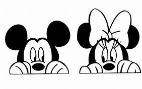 Mickey And Minnie Mouse Peeking Free Clipart Image Search Results Mickey Mouse Mickey Mickey Mouse And Friends
