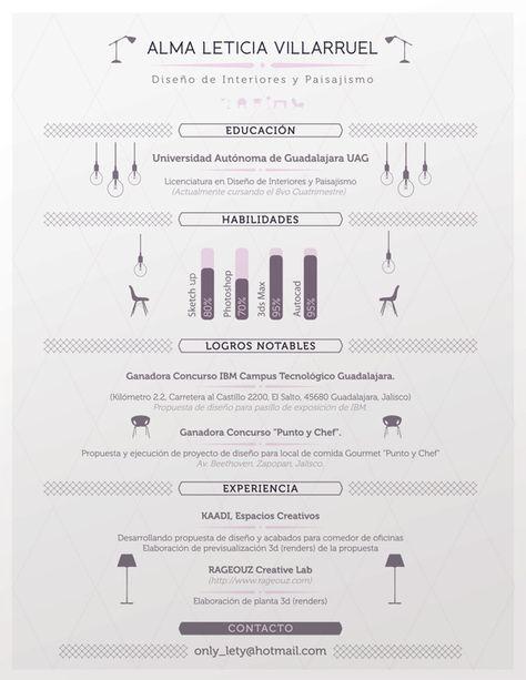 Interior Designer Resume. by Julio López, via Behance