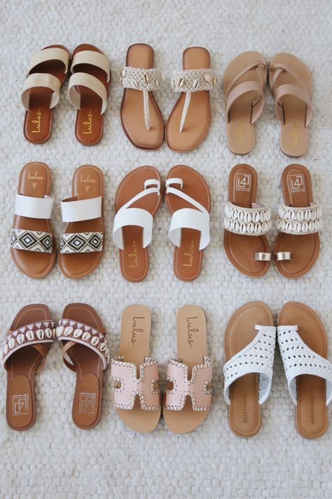 Sandal season is here and the Lulus summer sandal collection has you covered! Shop so many styles from woven leather to neutral slides. Whatever style you're after, these must-have sandals will complete your summer outfit. #lovelulus