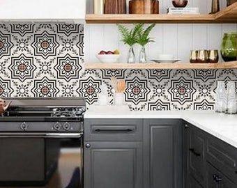 Kitchen And Bathroom Splashback Removable Vinyl Wallpaper Etsy Bathroom Splashback Vinyl Wallpaper Kitchens Bathrooms
