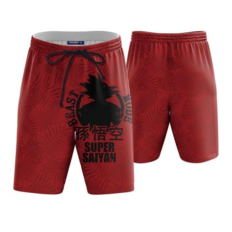 a15211b259 Beast Mode Super Saiyan Goku Red Boardshorts Swim Trunks. #BeastMode  #SuperSaiyan #Goku #Red #Boardshorts #SwimTrunks