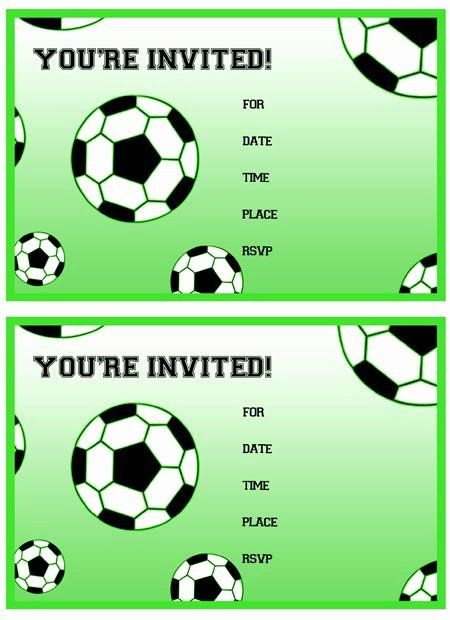 35 Free Football Party Invitations Template In 2020 Soccer Party Invitations Soccer Birthday Invitation Football Birthday Invitations