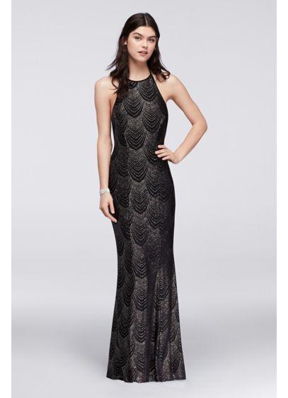 2472ef785294 Glitter Knit Halter Dress with Low Back X34311J446 | dantestt | Юбка