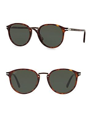bfc4e8126b8e Persol - 54MM Havana Round Acetate Sunglasses | Accessories in 2019 ...