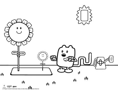 Wubbzy The Gardener Coloring Sheet Coloring For Kids Coloring