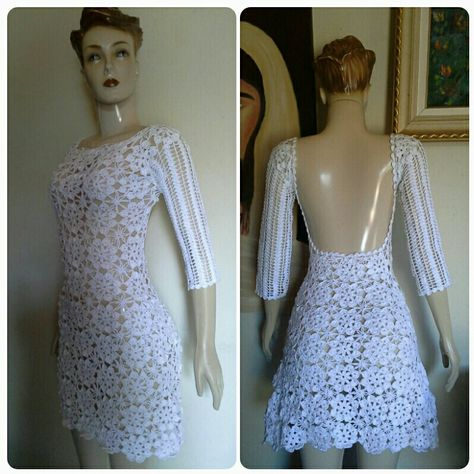 718bec083 Vestido Crochet