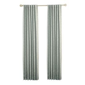 Allen Roth Carronbridge 95 In Sky Polyester Back Tab Room Darkening Standard Lined Single Curtain Panel 1625245 Panel Curtains Room Darkening Curtains