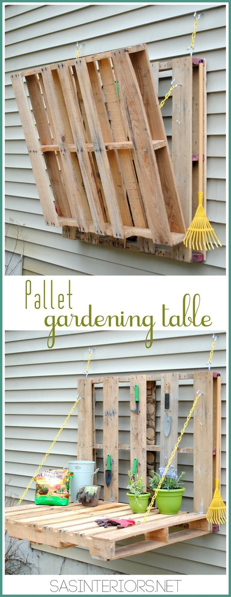 Vertical Pallet Gardening Table