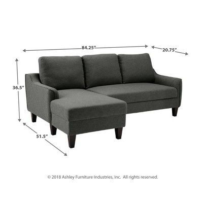 Jarreau Sofa Chaise Sleeper Gray Signature Design By Ashley Chaise Sofa Sectional Sleeper Sectional