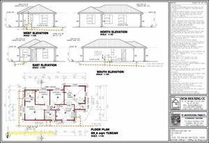 Top Photo Of Modern House Plan Best Of Free 3 Bedroom Plans Picture Home 3 Bedrooms House Plan D In 2020 House Plans South Africa Flat Roof House House Plans Farmhouse