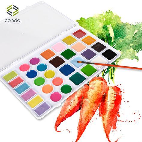 Conda 32 Farben Professionelle Solide Aquarellfarben Grundlagen