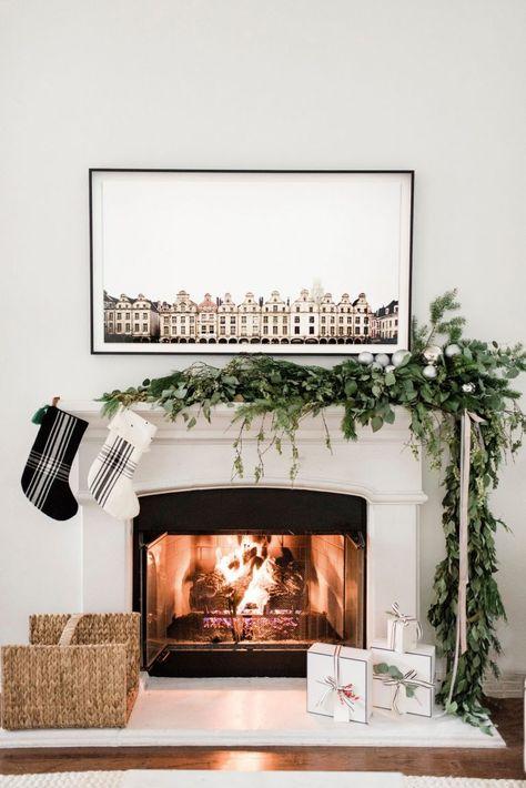 Holiday Home Tour Modern And Minimalist Christmas Fireplace
