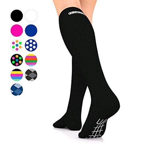 7796424fc6a Go2Socks GO2 Compression Socks for Men Women Nurses Runners 16-22 mmHg  (Medium) – Medical Stocking Maternity Travel – Best…  firm