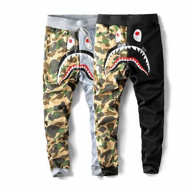 BAPE A Bathing Ape Shark Head Camo Sweatpants Men/'s Casual Jogging Long Pants