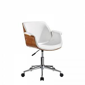 Tousmesmeubles Chaise De Bureau Simili Cuir Blanc Concorde L 59 X L 57 X H 80 En 2020 Chaise De Bureau Design Cuir Blanc Chaise Bureau