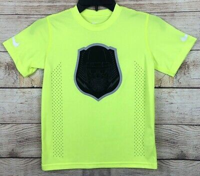 NWT Nike Boys YLG Dark Gray//Neon Yellow//Gray Dri-Fit Training Shorts Large