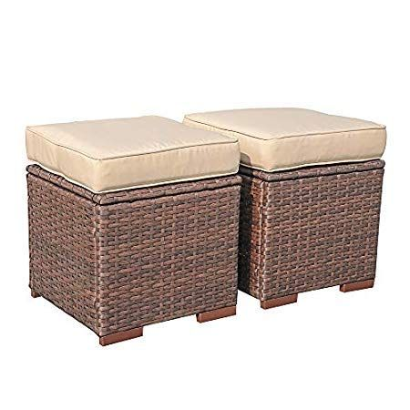 50 Wicker Ottomans And Rattan Ottomans For 2020 With Images