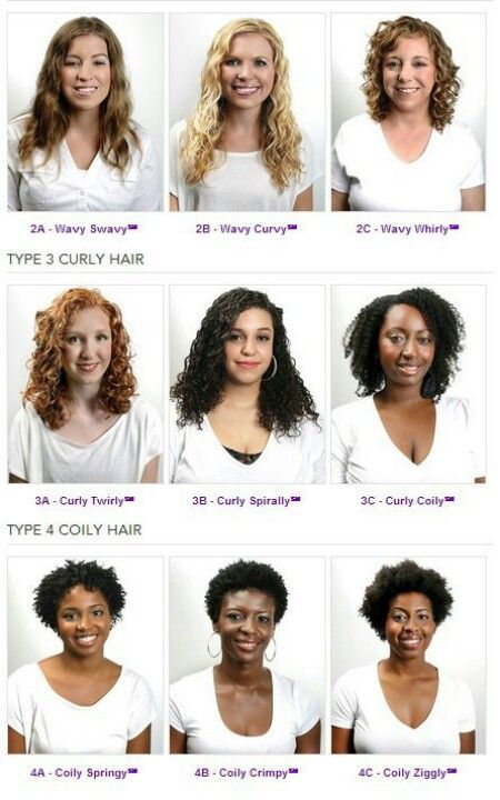 Curly Hair Types 3a 4c Hair Type Chart Curly Hair Styles Curly Hair Styles Naturally