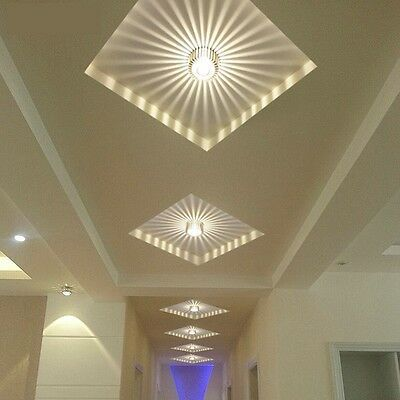 Details About 3w Aluminum Led Ceiling Fixture Pendant Lamp Lighting Chandelier Corridor Light With Images Modern Led Ceiling Lights Ceiling Lights Corridor Lighting