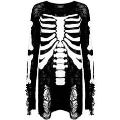Comfy, oversized, knitted sweater with large ribcage design. £44.99