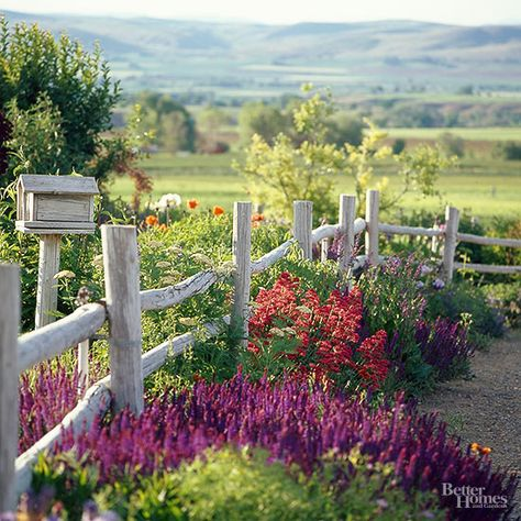 Native Beauty Smart use of native plants spelled success for this breathtaking Oregon garden. Oregon Garden, Country Fences, Rustic Fence, Wooden Fence, Country Garden Ideas, Rustic Backyard, Diy Fence, Fence Ideas, Country Roads
