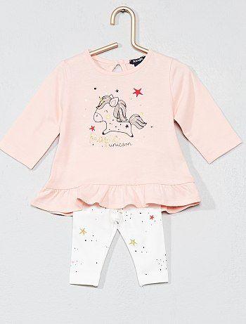 c02872b71 Conjunto de camiseta con faldón + legging - Kiabi | unicornios ...