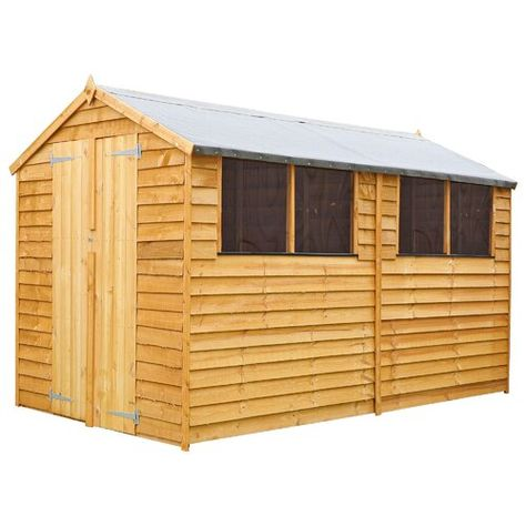 6 Ft W X 10 Ft D Overlap Apex Wooden Shed Wfx Utility Installation Included Yes In 2020 Garden Storage Shed Wooden Garden Shed