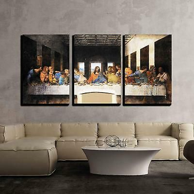 Wall Art Da Vinci The Last Supper 36x24 Wall Hangings Stretched Canvas Pictures Fashion Home Garden Homedcor Canvas Art Wall Decor Canvas Pictures Wall Art