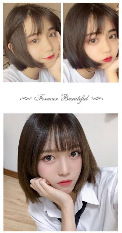 Wig Female Short Hair Bobo Korean Bobo Head Round Face Full Headgear Curly Net R In 2020 Short Hair Styles For Round Faces Japanese Short Hair Short Hair Styles
