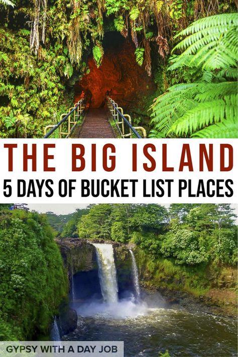 Hawaii Big Island - Planning Your 5 Day Escape