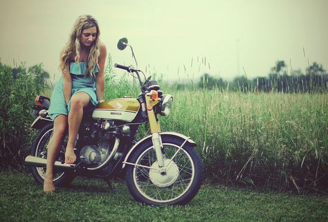 A girl and her Honda