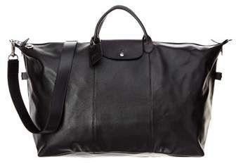 Longchamp Le Foulonne Xl Leather Travel Bag | Leather travel ...