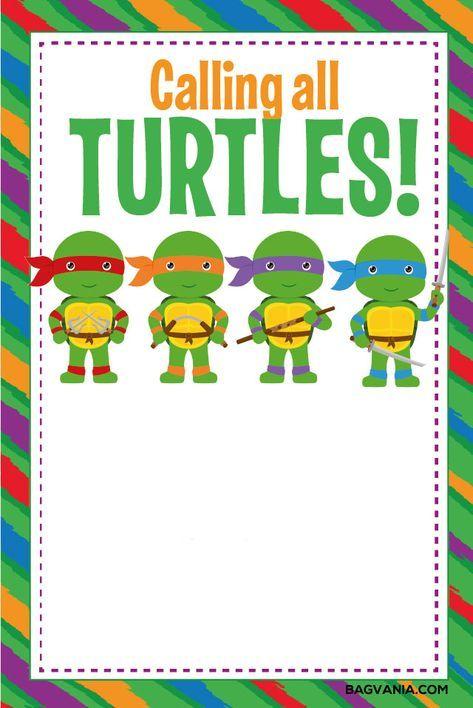 Free Free Printable Ninja Turtle Birthday Party Invitations Turtle Birthday Invitations Turtle Birthday Parties Ninja Birthday Parties
