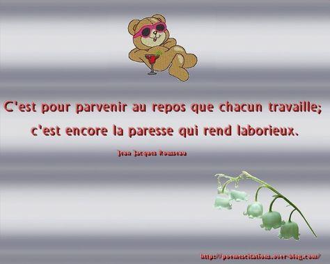 Tout Travail Mérite Repos Citation Du Jour Poeme Et