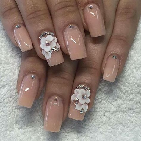 Nude nails are really cute