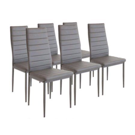 Modern Desk Chair Dining Side Chairs Set Of 6 Upholstered