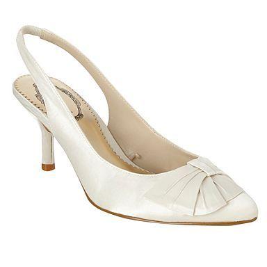 19549b4cdf4 Ivory bow detail sling back shoes - Debenhams