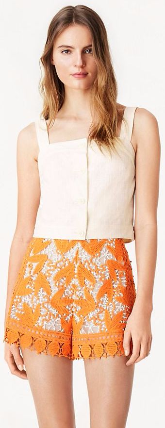Lace Marigold Shorts