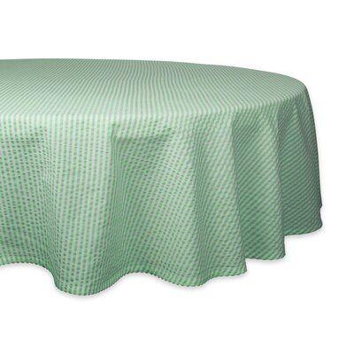Gracie Oaks Voss Seersucker Tablecloth Design Round Tablecloth
