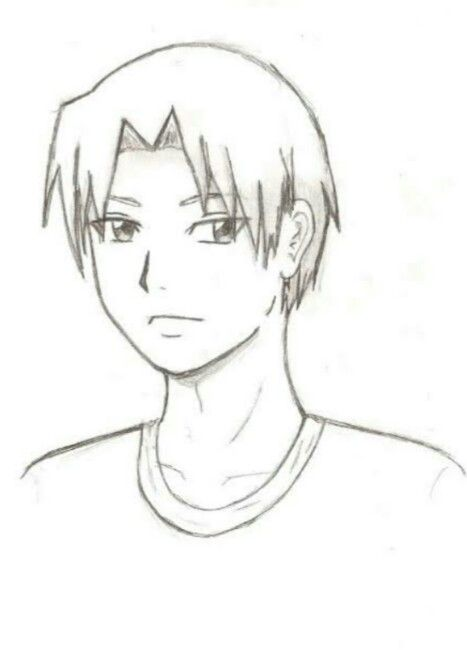 Easy Draw Anime How To Draw An Anime Boy For Kids Step 6 Drawing People Anime Drawings Boy Anime Drawings Sketches