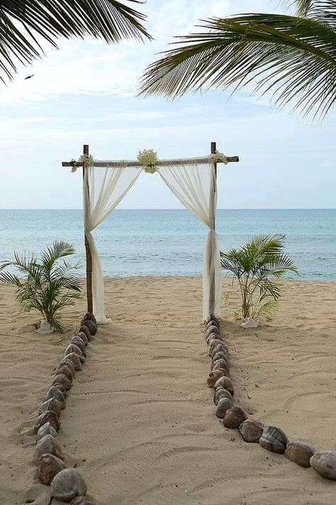 Beach Wedding Ideas - Gold & Champagne, Glam Beach Destination Vow Renewal in Antigua: Sonia & Chris Simple Beach Wedding, Dream Wedding, Fall Wedding, Beach Wedding Dresses, Gold Beach Wedding, Small Beach Weddings, Sunset Beach Weddings, Beach Wedding Attire, Quirky Wedding