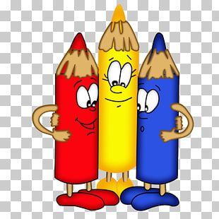 Crayon Rojo Amarillo Y Azul Lapiz De Color Crayon Para Colorear Libro Lapiz De Color De Dibujos Animados Png Clipart Clip Art Png Gratis