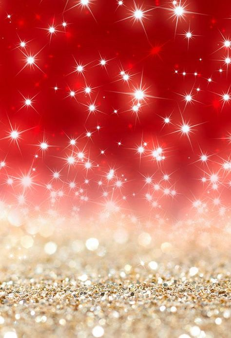 Photography Backdrop Gold Red Bokeh Glittering Background LV-1086 - 3'W*5'H(1*1.5m)