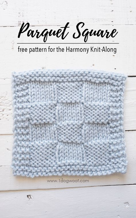 Parquet Square Knitting Pattern Harmony Blanket Knit-Along | KNIT ...